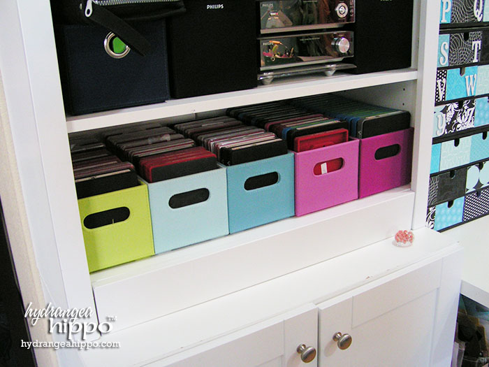 Sizzix Die Storage in Jennifer Priest's Scrapbook Room.