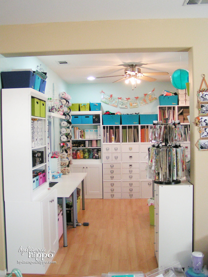 View of Jennifer Priest's scrapbook room circa 2010.