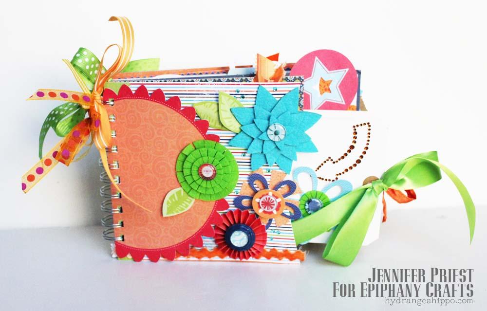 Summer Little Yellow Bicycle Mini Book Epiphany Crafts Jennifer