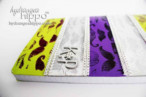 DuckTape-Altered-Composition-Book-Stamped-Surfacez-Jennifer-Priest-Clearsnap