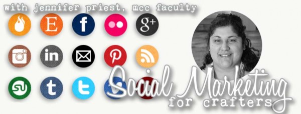 Social Marketing for Crafters Class Banner Jennifer Priest