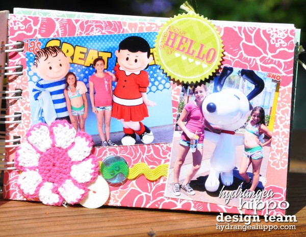 nancy keslin_great america_mini album_hydrangea hippo_june kit