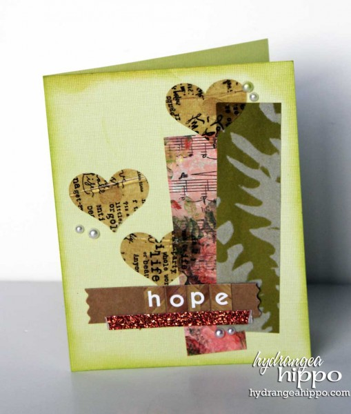 Hope Card by Hydrangea HIppo Jennifer Priest for Tombow With ICe Resin 2