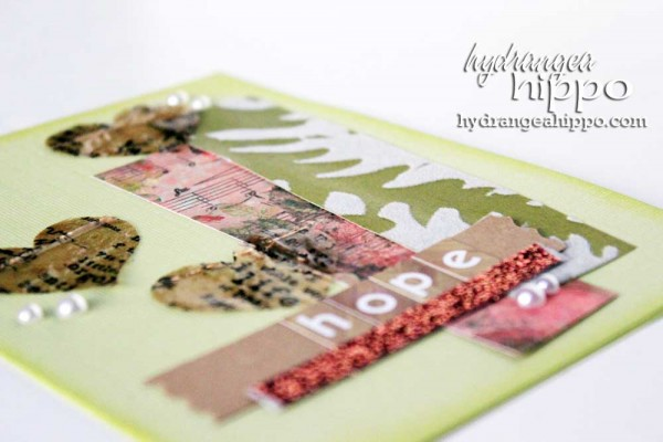 Hope Card by Hydrangea HIppo Jennifer Priest for Tombow With ICe Resin