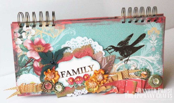 Family Album by Jennifer Priest Epiphany Crafts Tombow DCWV - COVER