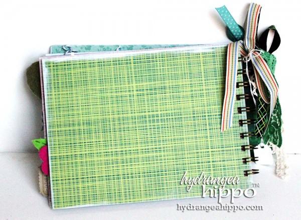 Green-Bird-Potlandia-Put-a-Bird-On-It-Mini-book-scrapbook-hydrangea-hippo-completed-gift-christmas-girl2