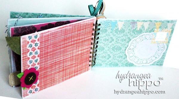 Green-Bird-Potlandia-Put-a-Bird-On-It-Mini-book-scrapbook-hydrangea-hippo-completed-gift-christmas-girl3