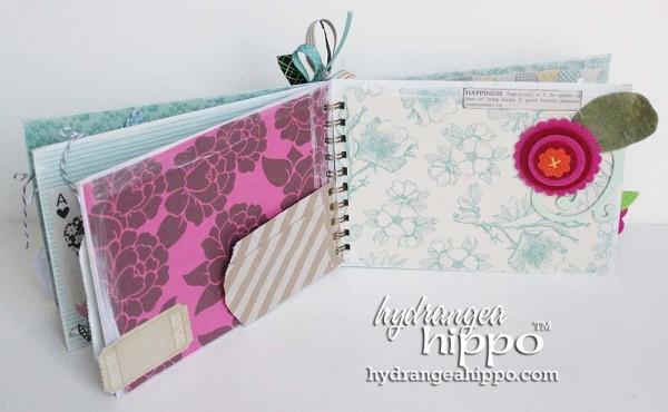 Green-Bird-Potlandia-Put-a-Bird-On-It-Mini-book-scrapbook-hydrangea-hippo-completed-gift-christmas-girl5