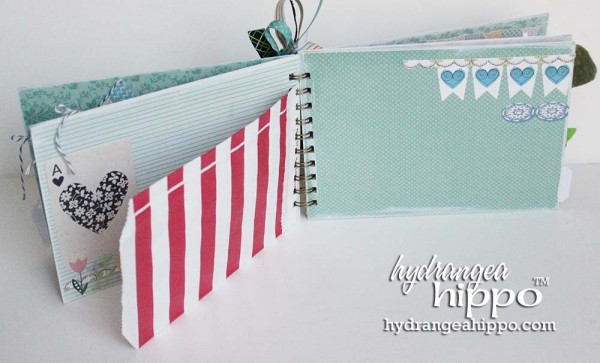 Green-Bird-Potlandia-Put-a-Bird-On-It-Mini-book-scrapbook-hydrangea-hippo-completed-gift-christmas-girl6