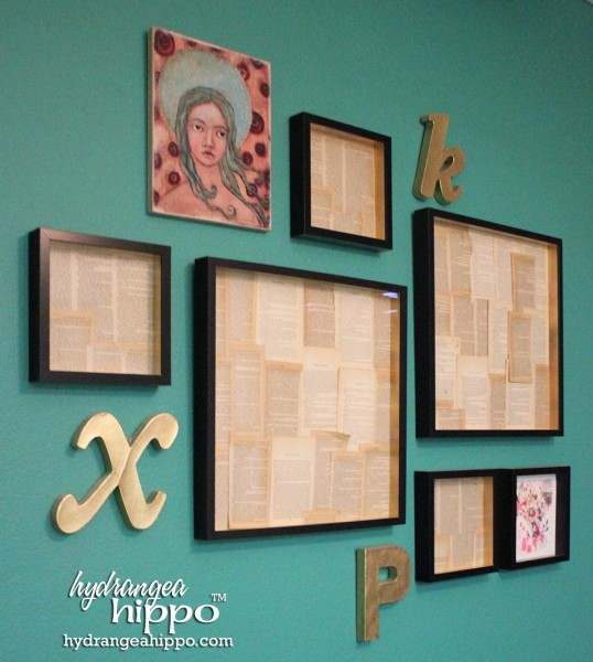 Librarian Chic On The Cheap How To Make A Book Page Frame Collage