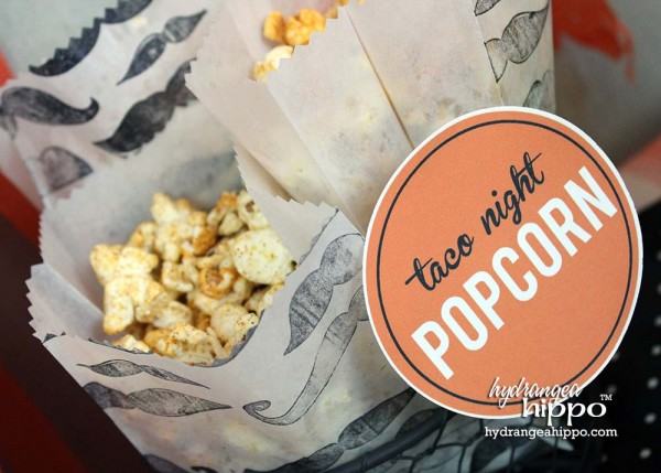Add more fun to your popcorn bags with Grease Resistant Gusseted Expandable Wax Paper Bags and Colorbox Surfacez Multi-Surface Inkpad-Black. Jennifer Priest showed how to make these super cool bags for your OITNB party!