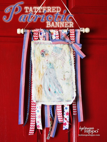 Craft Attitude 4th of July Tattered Patriotic Quilt Banner by Jennifer Priest