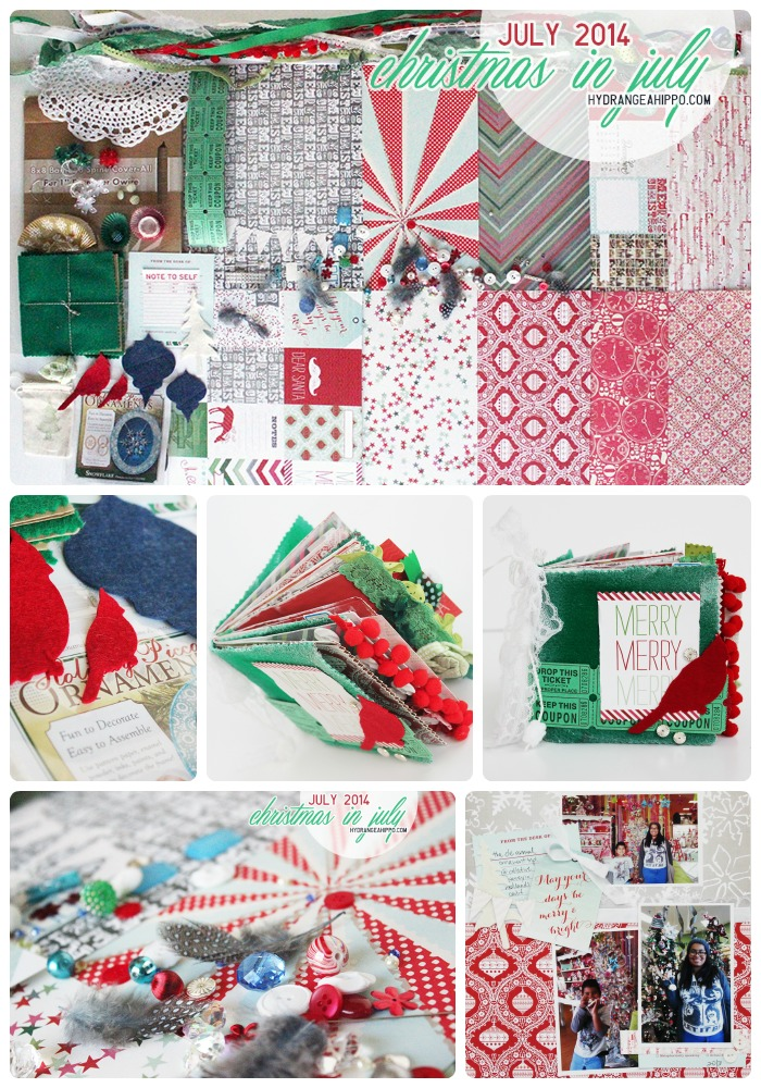 JULY 2014 Hydrangea Hippo Kit - Christmas In July