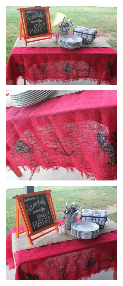 Burlap TableCloth by Hydrangea Hippo