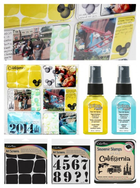 Clearsnap New Product Release - Stencils-Sprays-Pocket-Scrapbooking by Jennifer Priest SUPPLIES