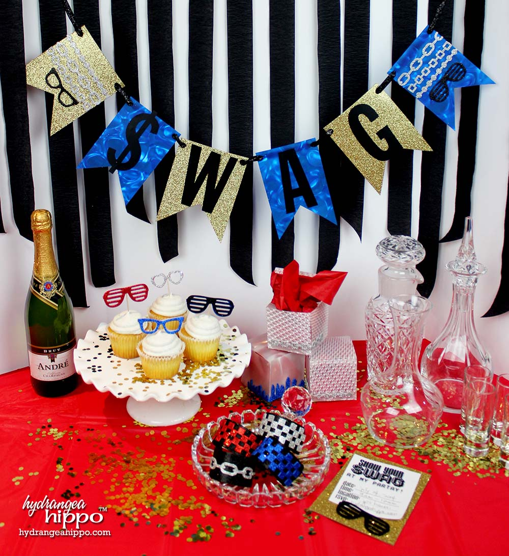 Diy hip hop party with the modern surrealist collection for Old school party decorations