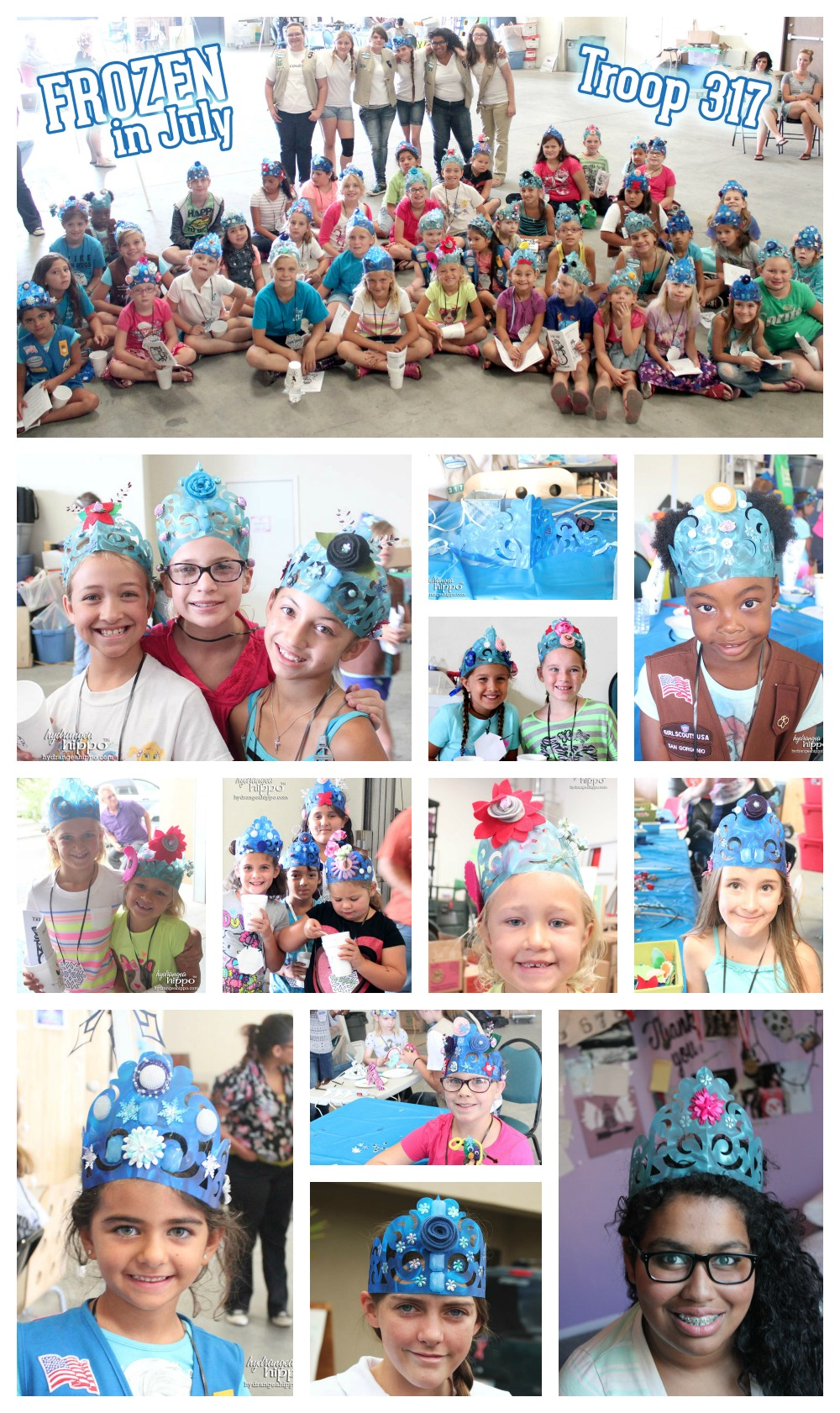 Girl Scout Frozen Collage