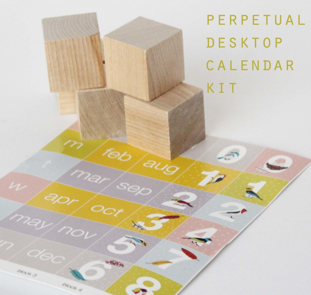 how to make a perpetual calendar for back to school