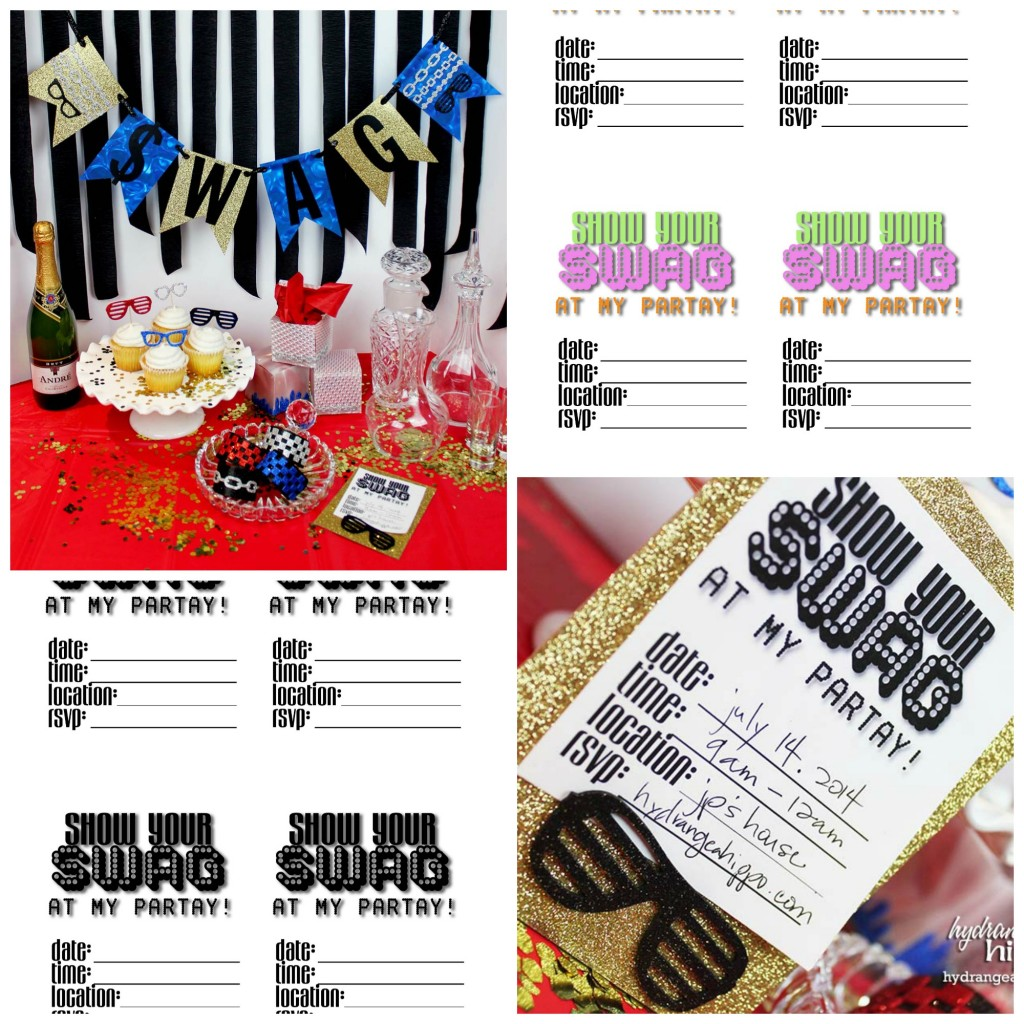 Printable INvites Hip Hop Party