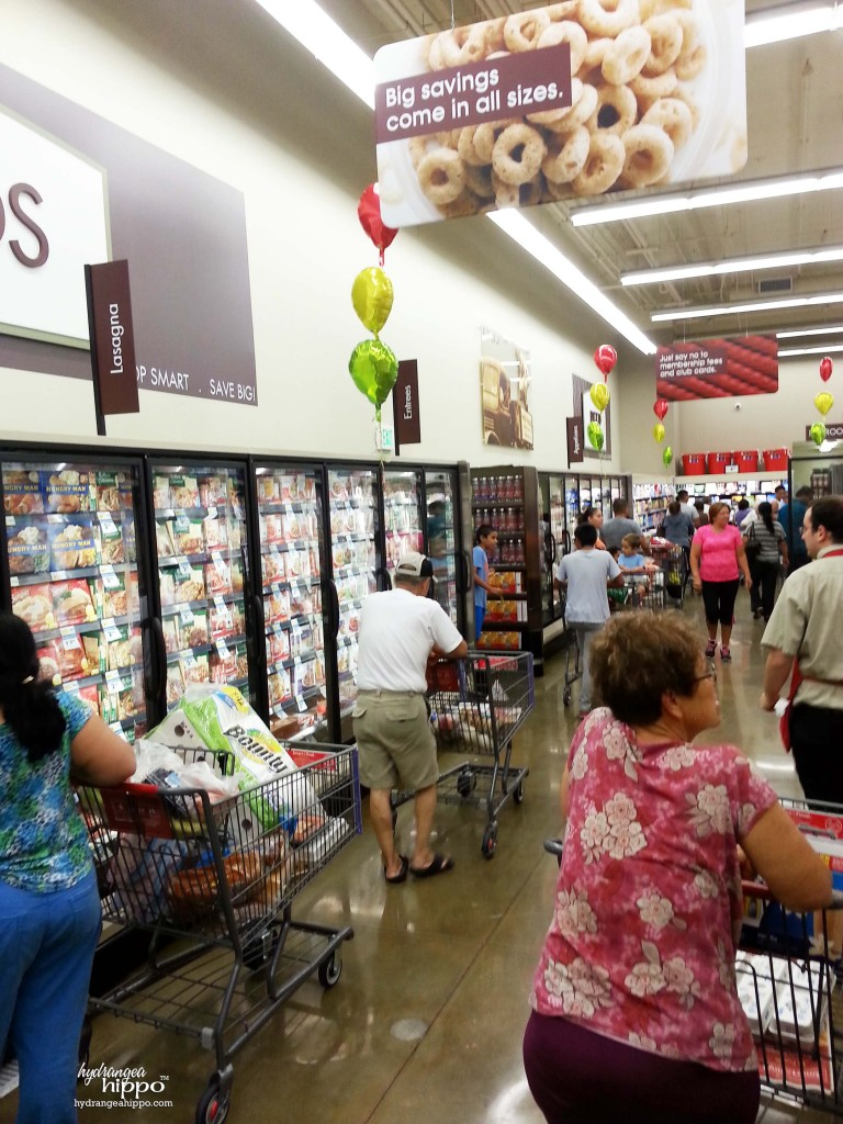 Smart and Final La Puente CA Grand Opening - Frozen Foods Section - Hydrangea Hippo