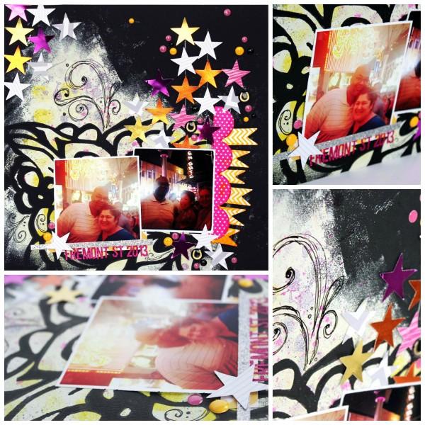 StencilGirl Traci Bautista Layout - Jennifer Priest Hydrangea Hippo - collage