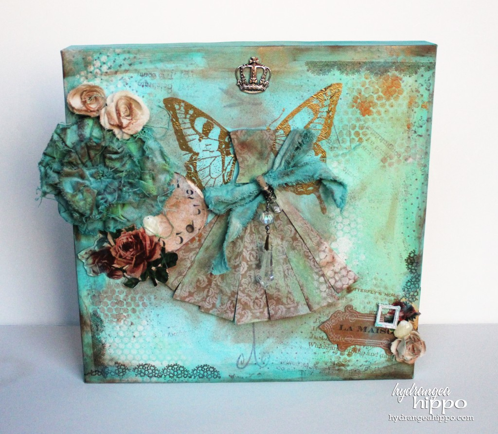 Upcycled Dress Form Canvas by Jennifer Priest for Tombow USA - FINAL