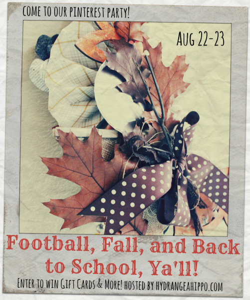 FootBall Fall Back to School Pin Party