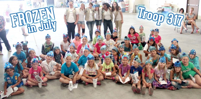 Girl-Scouts-FROZEN-Event-JULY-2014-crowns-GROUP