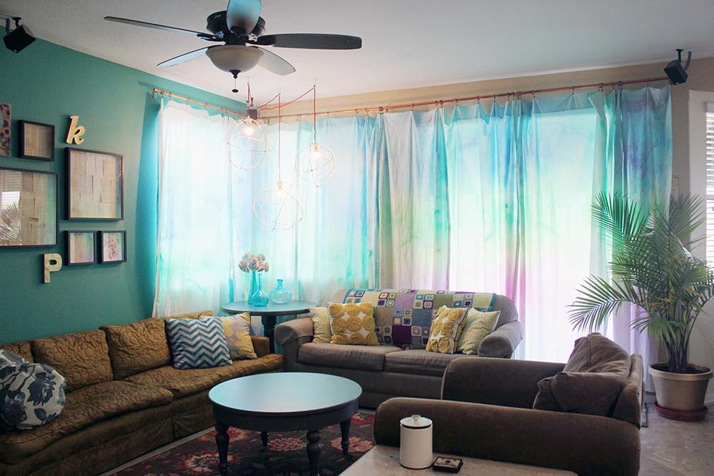 Watercolor curtains are easier than you think ! Check out this video turotial with tips on createing these curtains, finding fabric, and more. Your living room will be the most unique ever! Jennifer Priest shares how...