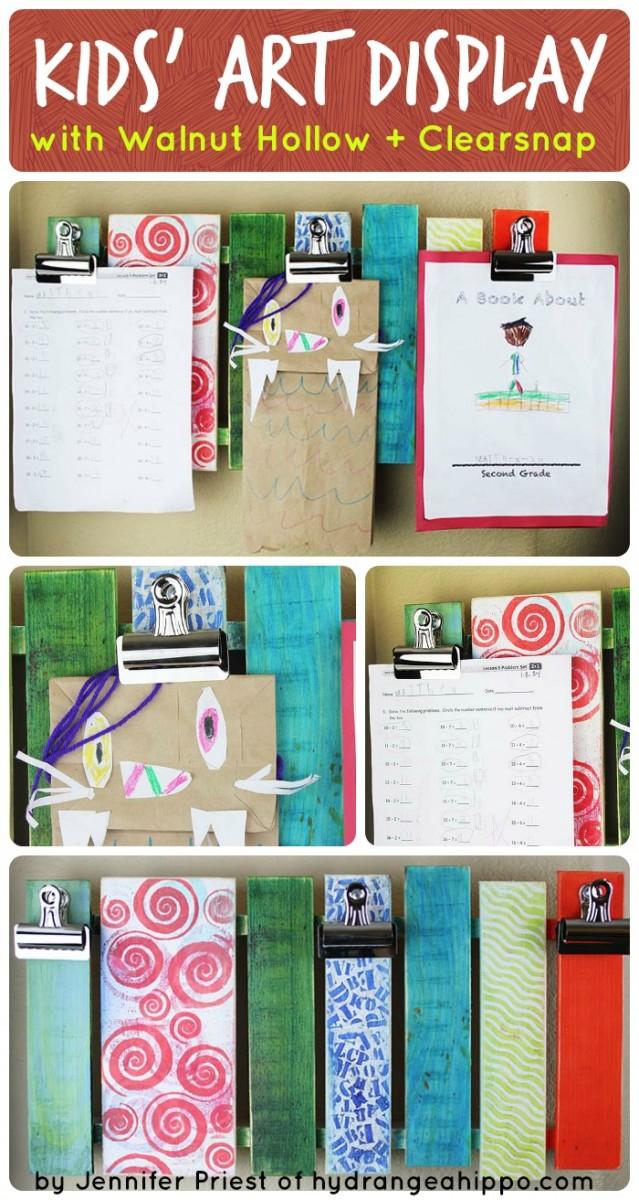 Kids Art Pallet Collage - by Jennifer Priest
