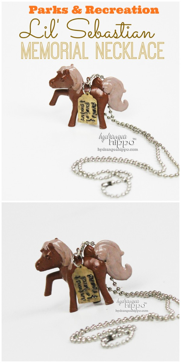 Lil Sebastian Memorial Necklace by Jennifer Priest for hydrangeahippo TITLE Parks and Recreation