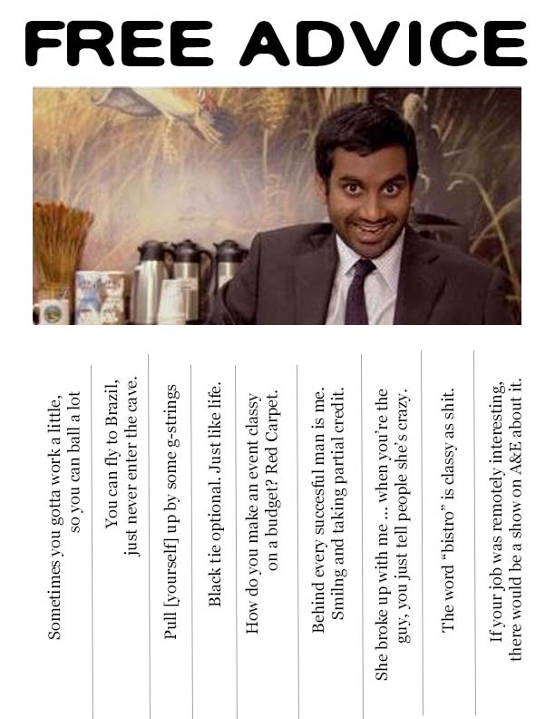 Tom Haverford Free Advice - hydrangeahippo