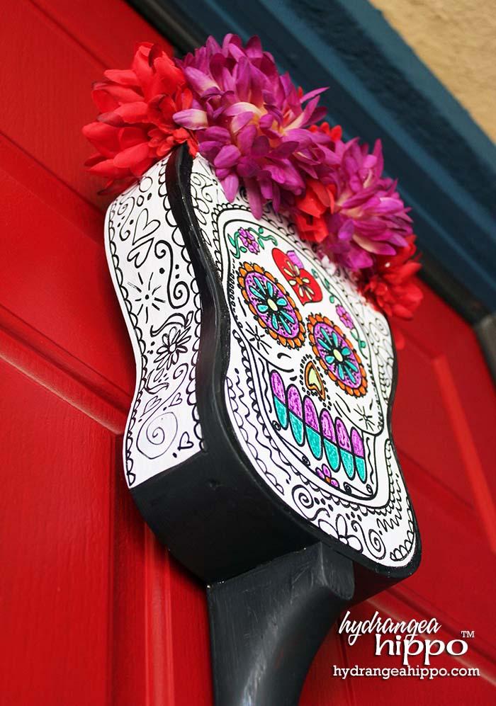 Altered Ukelele for Dia De Los Muertos by Jennifer Priest - Door Hanging 3