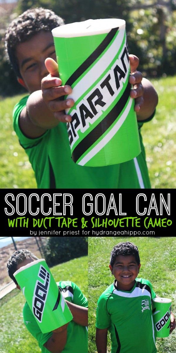 DIY Soccer Goal Can with Duct Tape TITLE