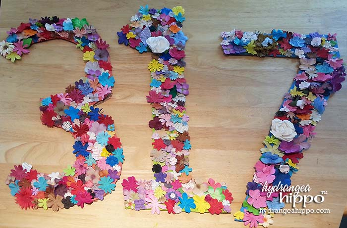 DIY Troop Numbers for Girl Scouts with Prima Flowers by Jennifer Priest