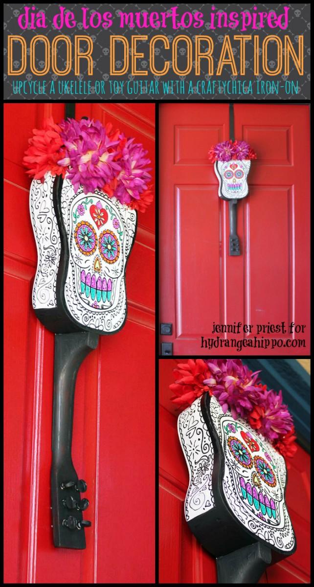 Dia De Los Muertos Door Decoration by Jennifer Priest