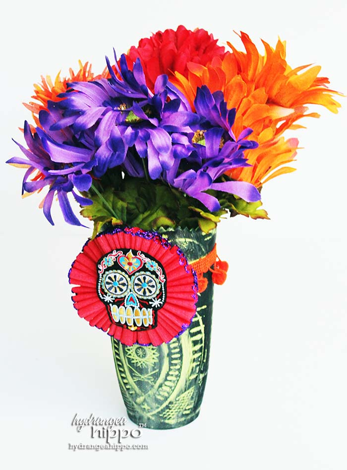 Dia De Los Muertos Flower Centerpiece by Jennifer Priest of hydrangeahippo 2