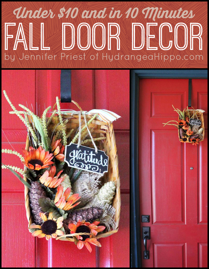 Fall Front Door Decor for Under 10 Dollars by Jennifer Priest