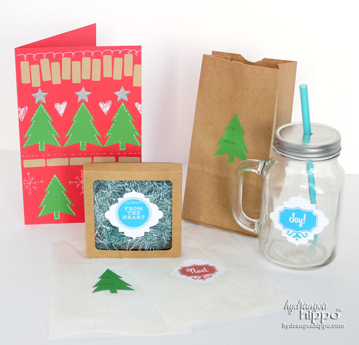 Holiday Printable Projects with Labels by Jennifer Priest of hydrangeahippo