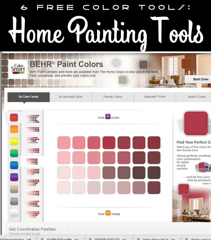 6 free tools for matching colors hydrangea hippo by - Paint color coordination tool ...