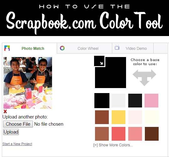 Hydrangea Hippo - How to Use the Scrapbookcom Color Tool