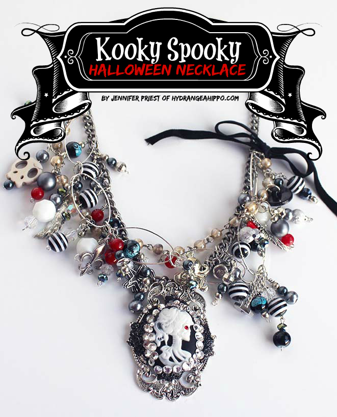 Kooky Halloween Necklace by Jennifer Priest for Craftastic TV