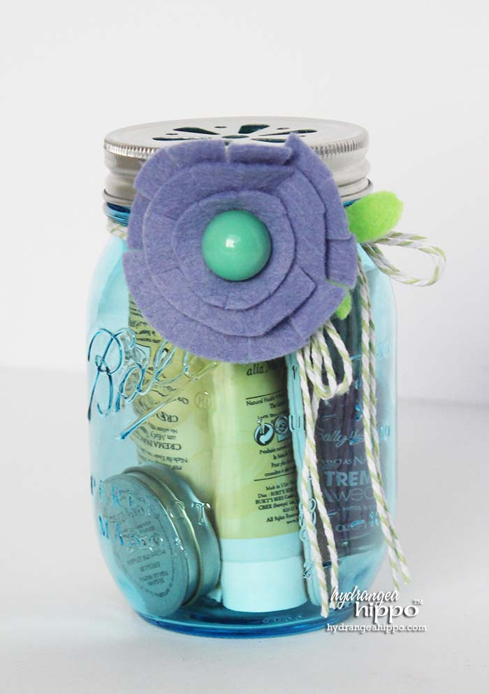 Mason Jar Gift - Mani Pedi Spa Jar Gift Idea for Christmas