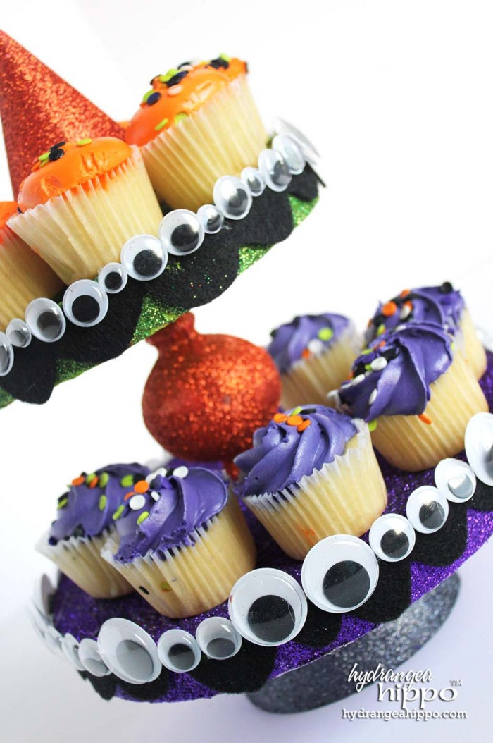 Smoothfoam Halloween CupCake Stand by Jennifer Priest of hydrangeahippo