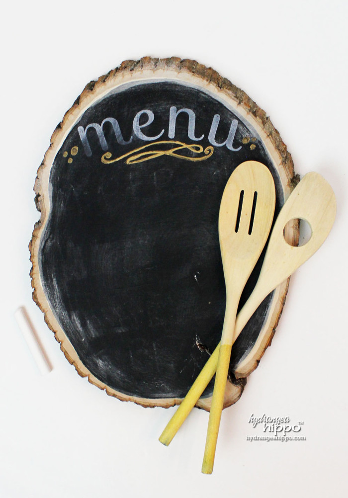 Bark Edge Chalkboard and Gold Tipped Spoon Gift Set by Jennifer Priest for Hydrangea Hippo - Handmade Holidays 2014 5