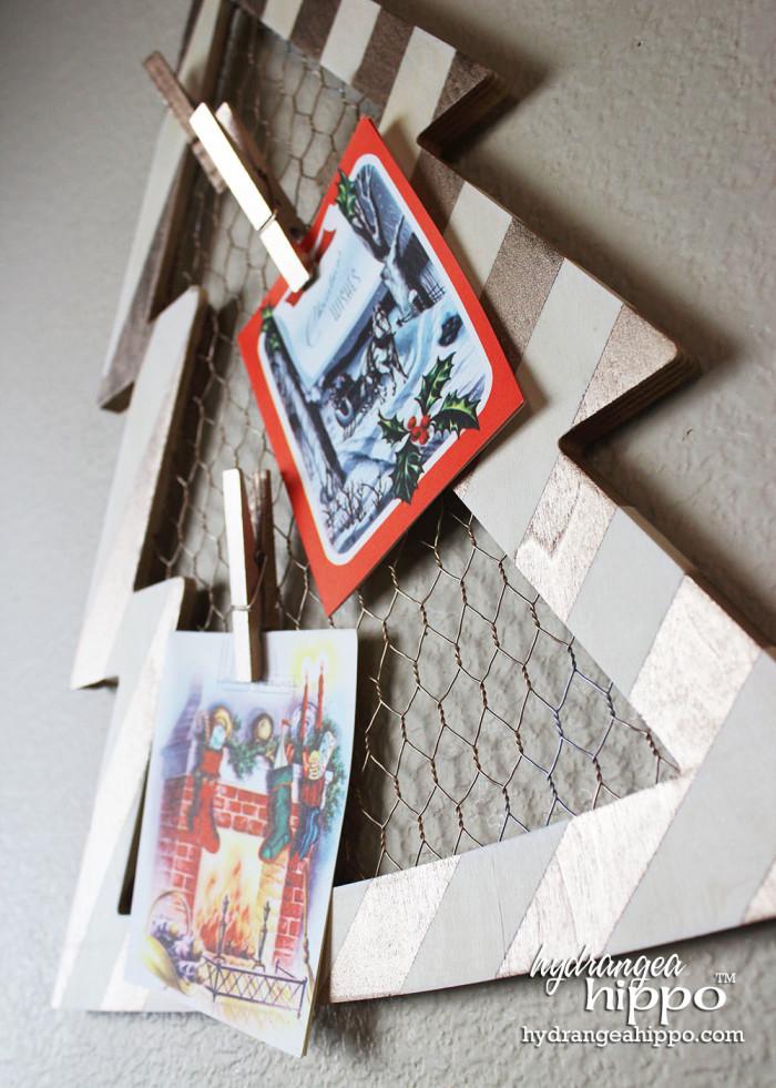 Christmas Card Display by Jennifer Priest of hydrangeahippo with Krylon Spray Paint 1