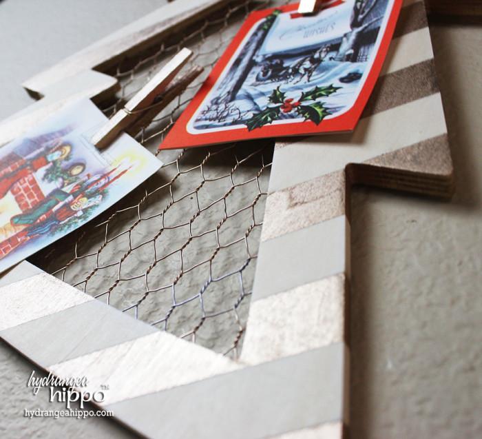 Christmas Card Display by Jennifer Priest of hydrangeahippo with Krylon Spray Paint 2