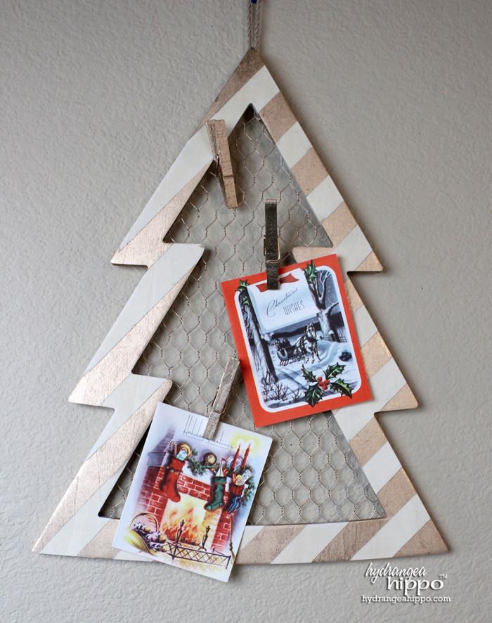 Christmas Card Display by Jennifer Priest of hydrangeahippo with Krylon Spray Paint 3