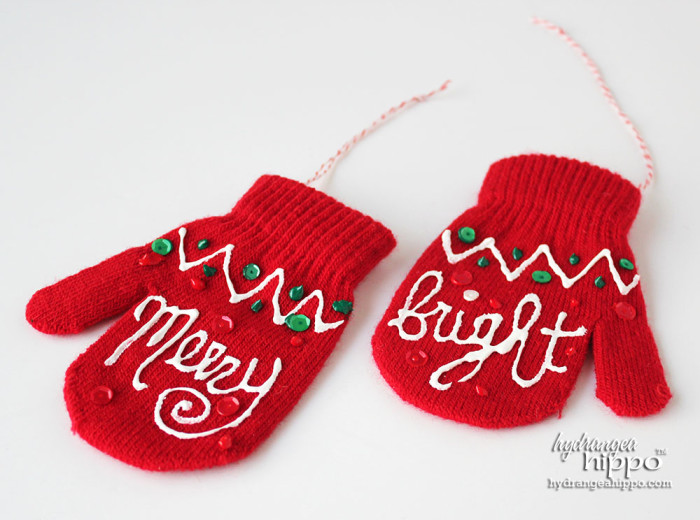 Mitten Ornaments by Jennifer Priest for hydrangeahippo 2