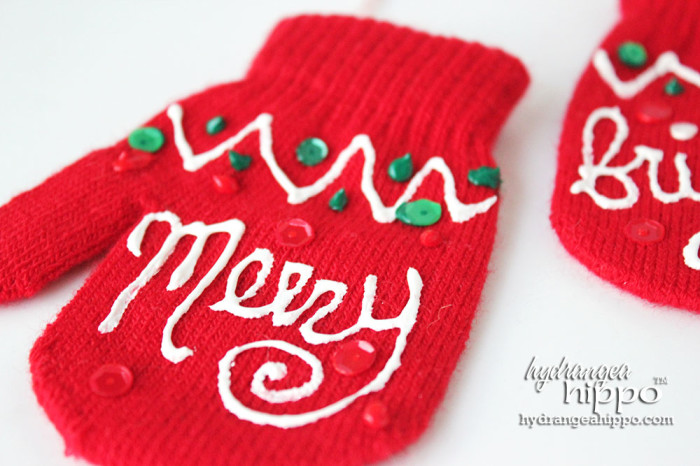 Mitten Ornaments by Jennifer Priest for hydrangeahippo 3